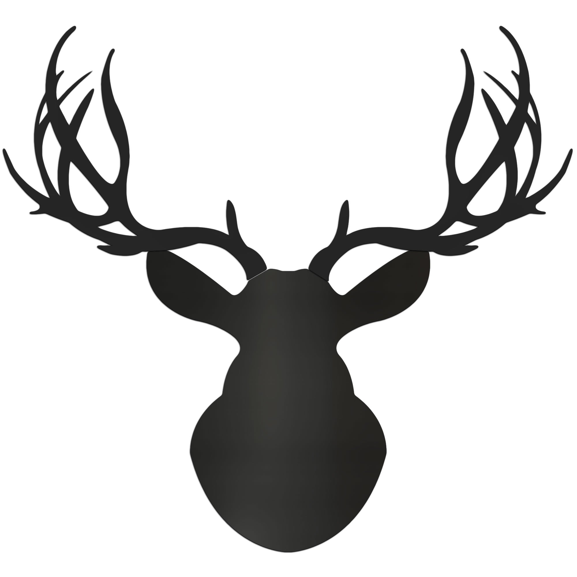 MIDNIGHT BUCK | 36x36 in. Pure Black Deer Cut-Out