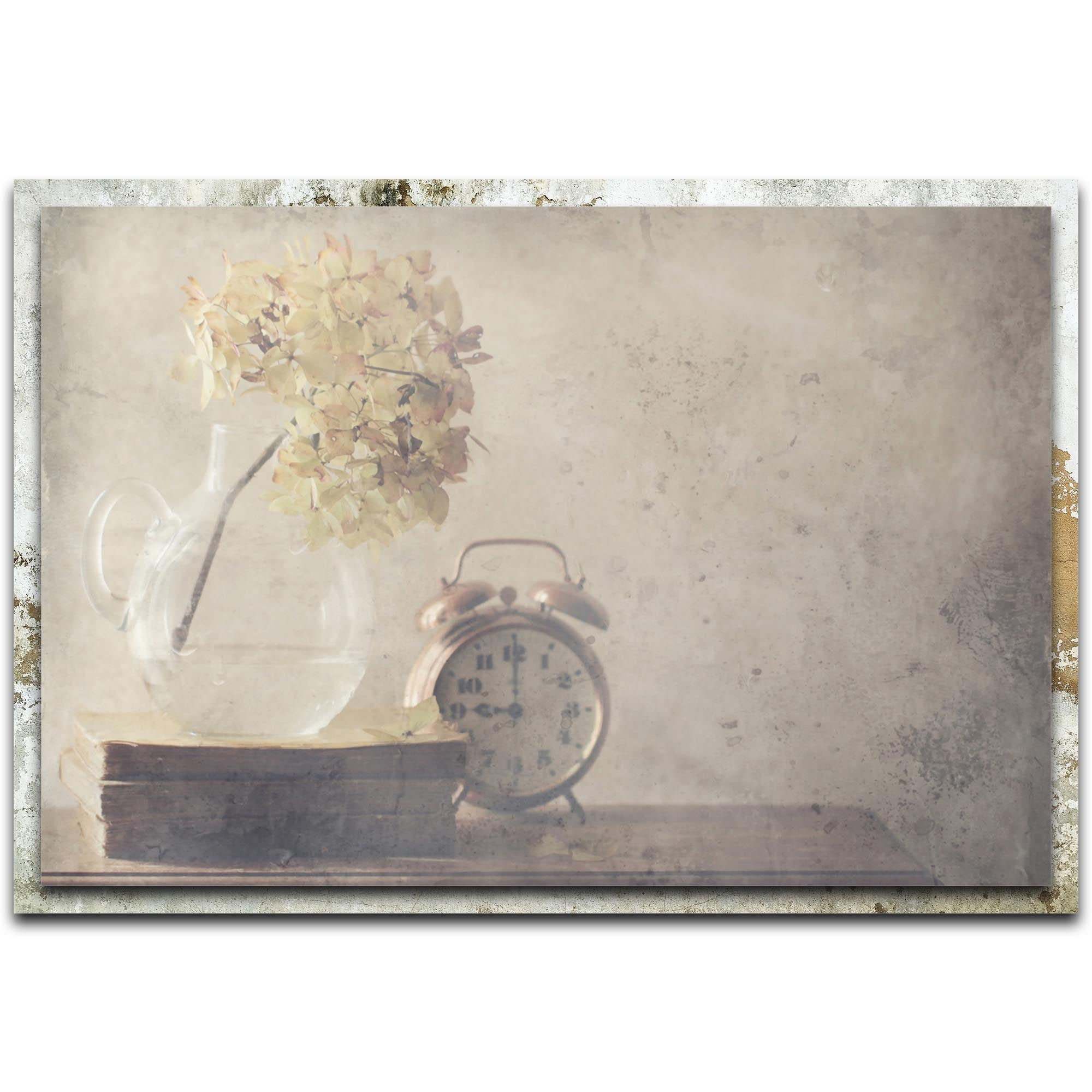 Disillusionment of Nine O'Clock by Delphine Devos - Modern Farmhouse Floral on Metal