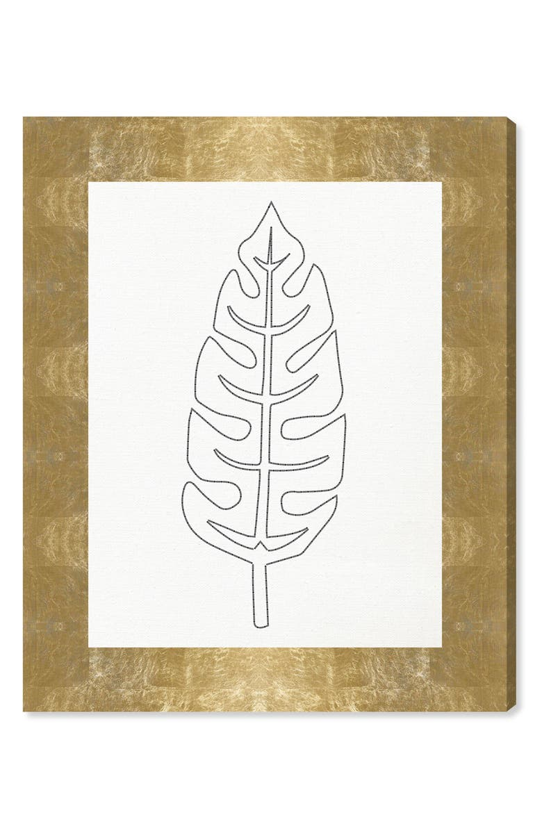 Stitched Palm Leaf II Canvas Wall Art