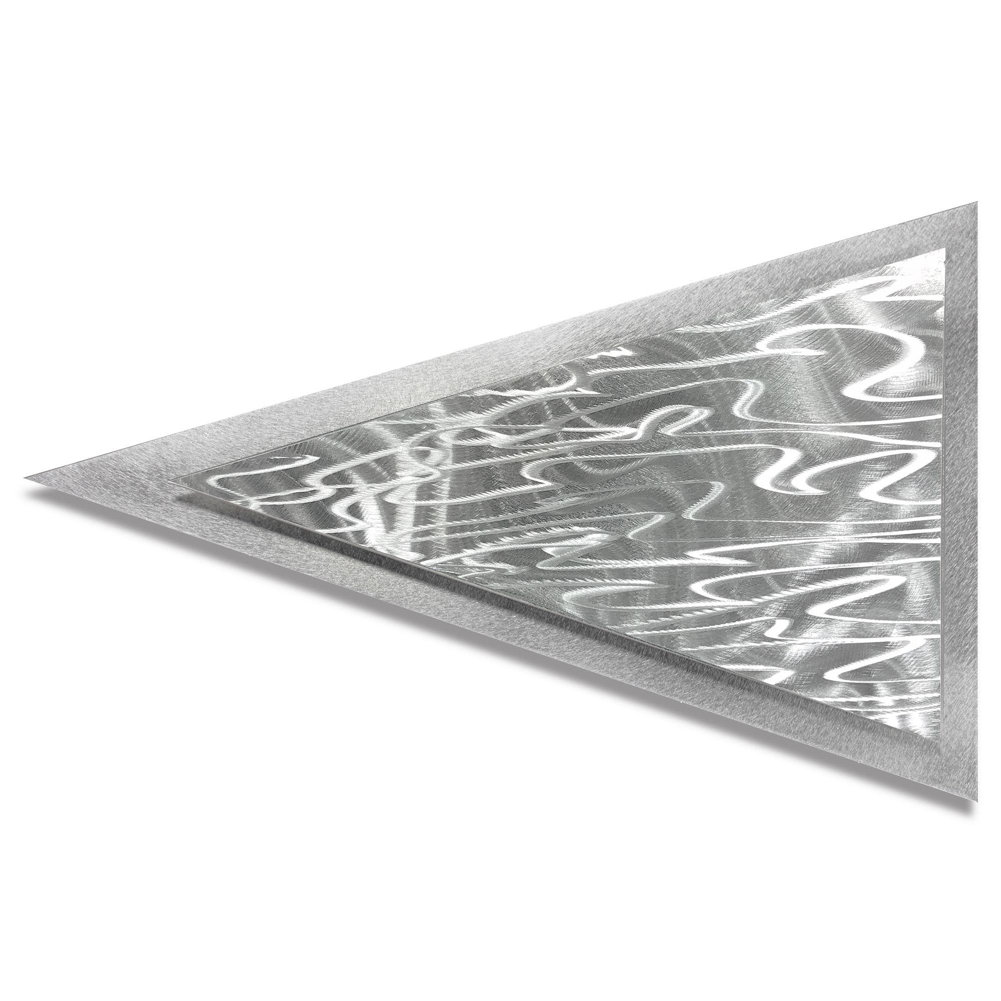 Currents Arrow by Helena Martin - Modern Metal Art on Ground Metal