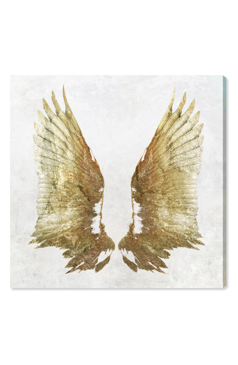 Golden Wings Light Canvas Wall Art