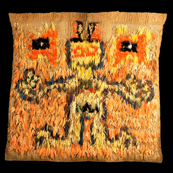 Nazca Feathered Textile with Human Figure (Price On Request)