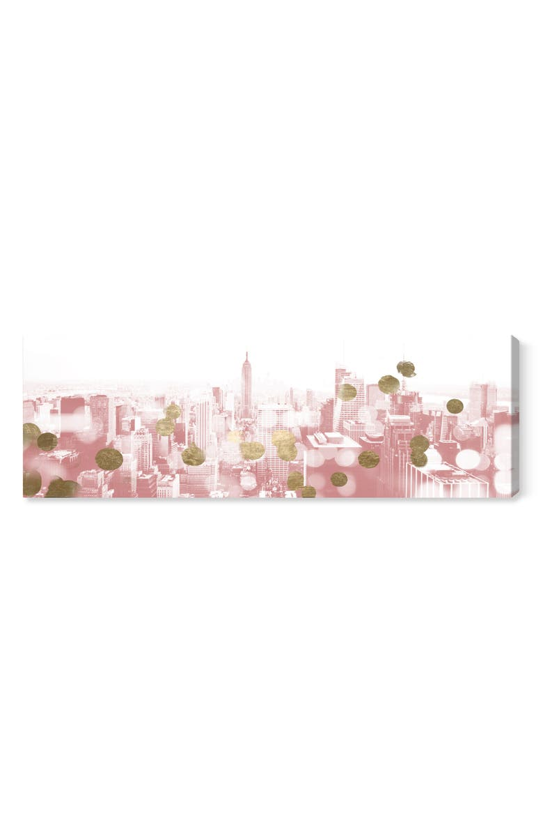 Blushing New York City Canvas Wall Art