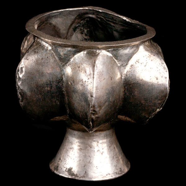 Very Heavy Silver Gadrooned Chalice