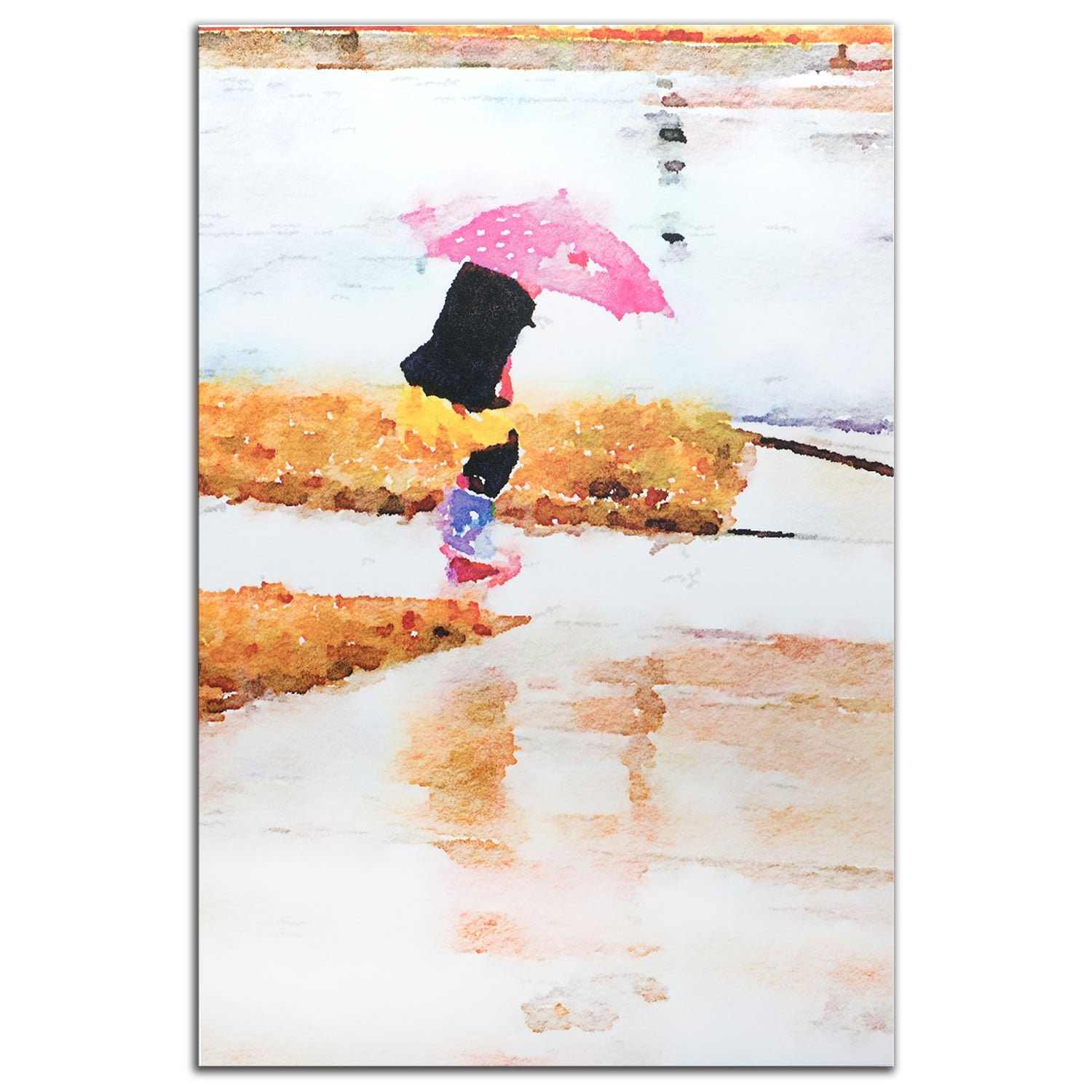 Pink Umbrella - Large Indoor/Outdoor Modern Metal Wall Art