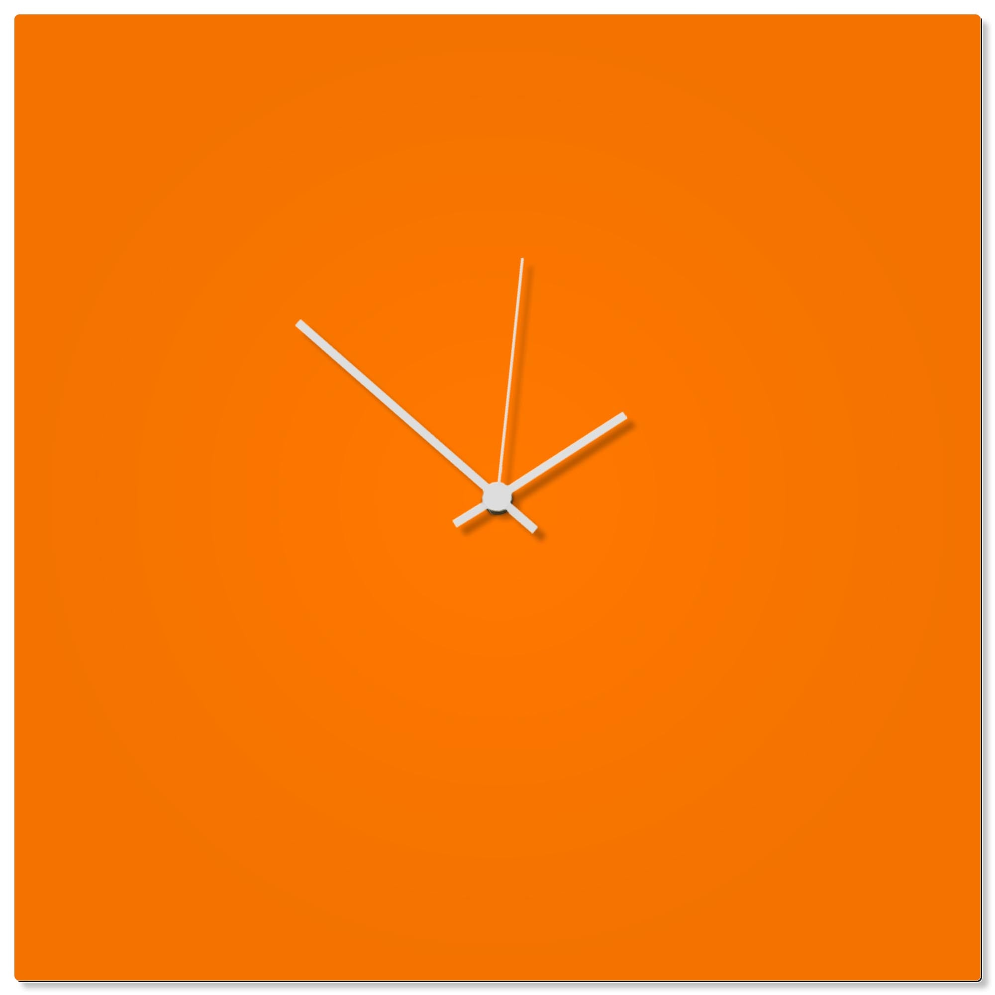 Orangeout White Square Clock Large by Adam Schwoeppe - Contemporary Clock on Aluminum Polymetal