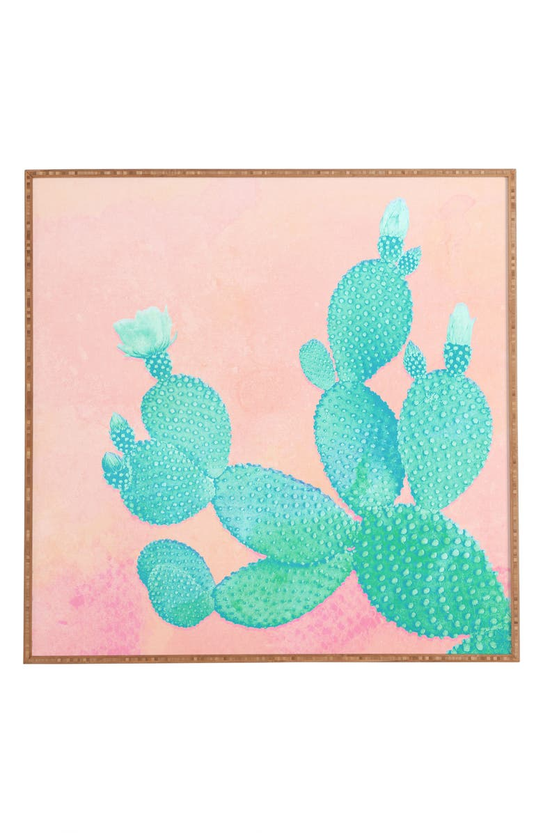 Pastel Cactus Framed Wall Art