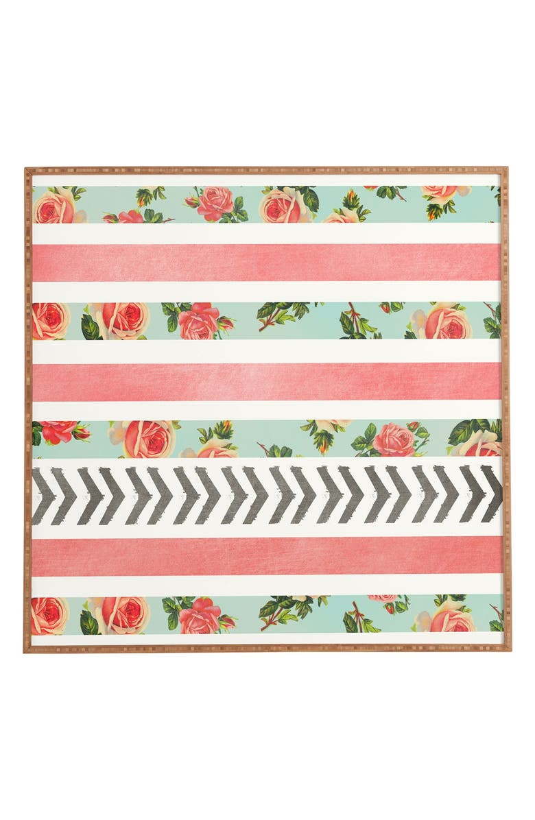 Allyson Johnson Floral Stripes & Arrows Wall Art