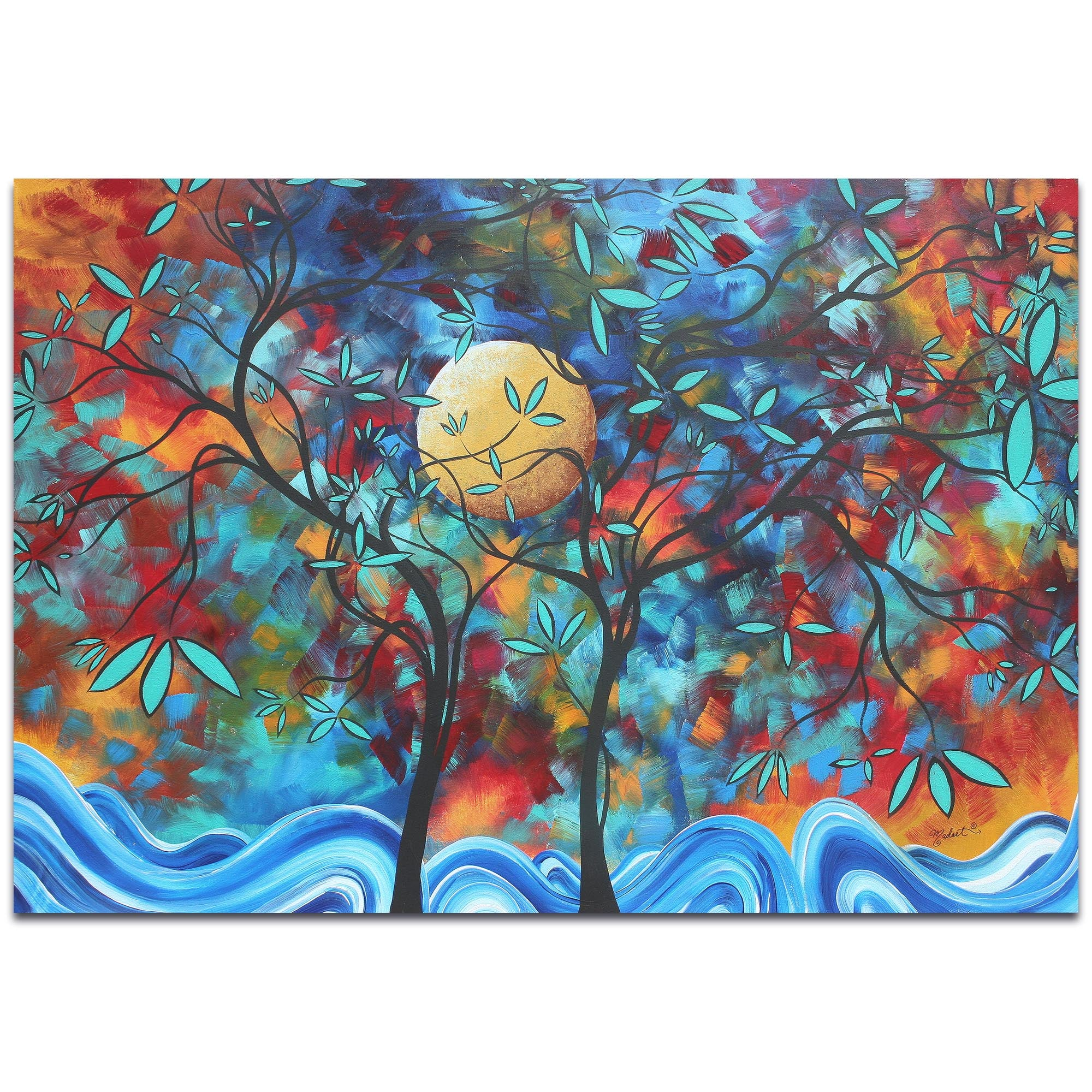 Lovers Moon by Megan Duncanson - Landscape Painting on Metal or Acrylic