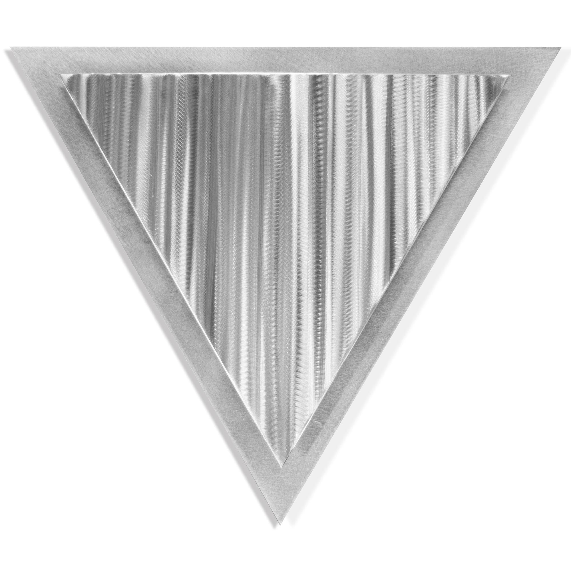 Linear Angle by Helena Martin - Modern Metal Art on Ground Metal