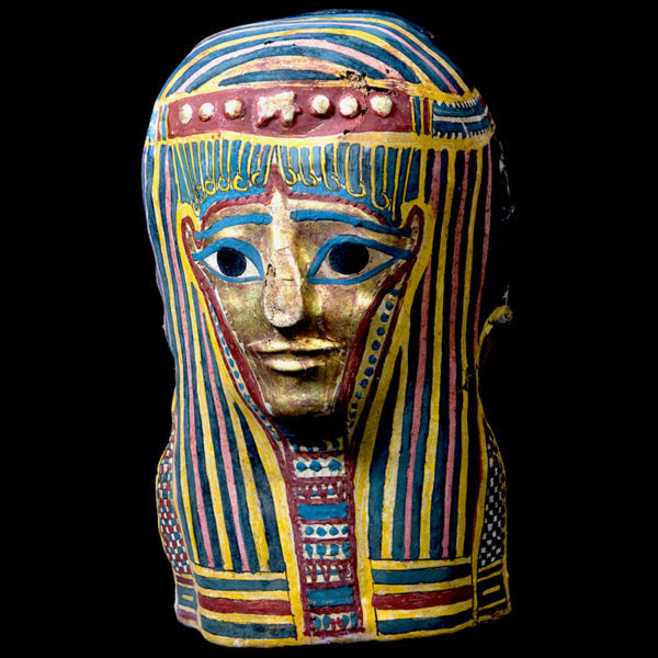 Beautiful Unrestored Late Period Egyptian Cartonnage with gold face.(Price On Request)