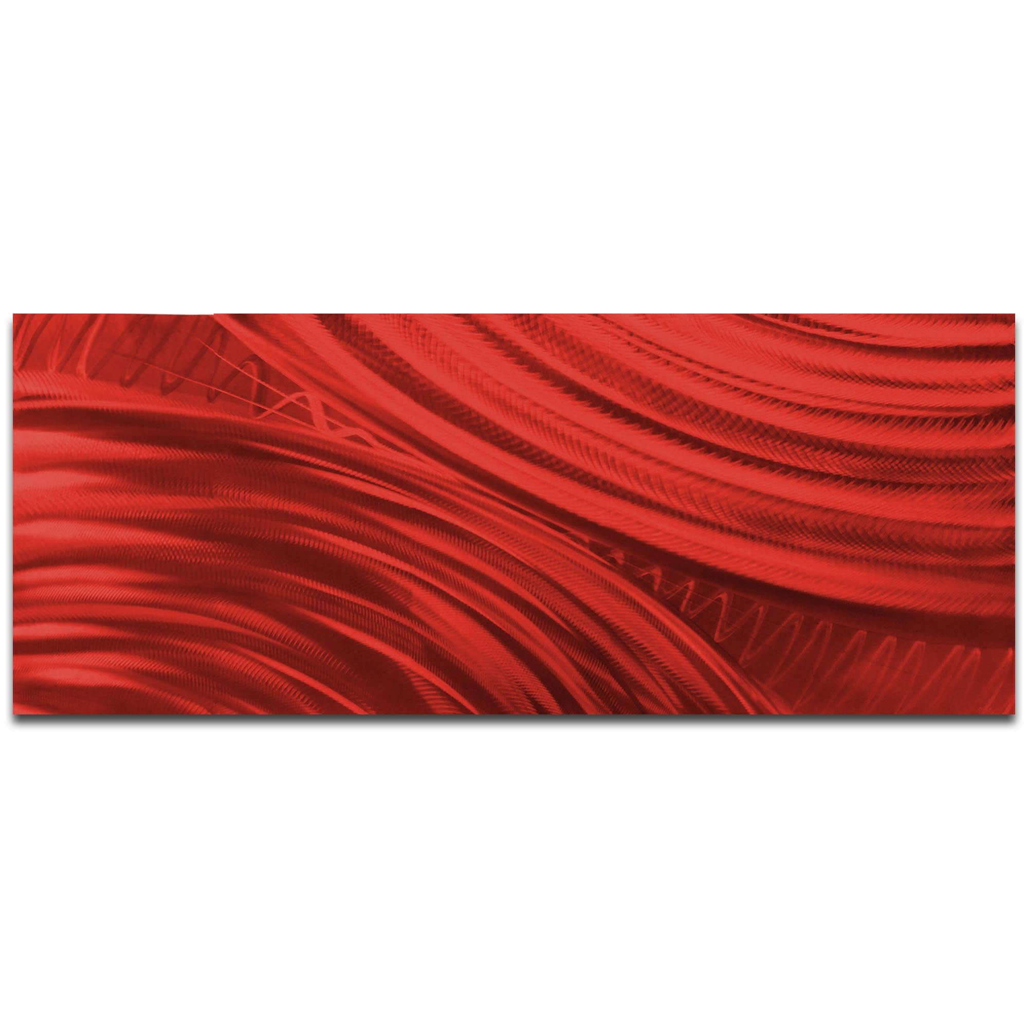Moment of Impact Red by Helena Martin - Original Abstract Art on Ground and Painted Metal