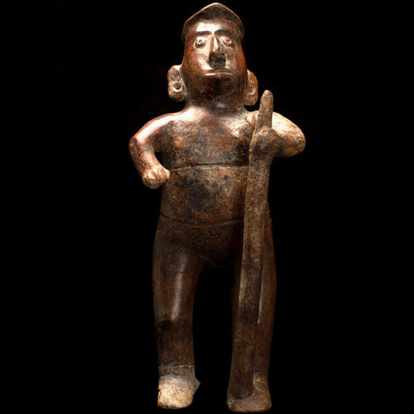 Tall Colima Figure Holding a Staff