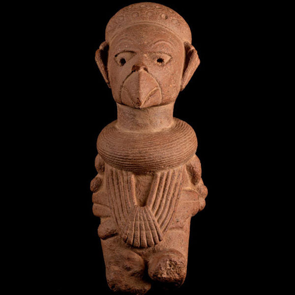 Very Rare Nok Terracotta Shaman in Bird Costume. TL Test. I-II Century AD.