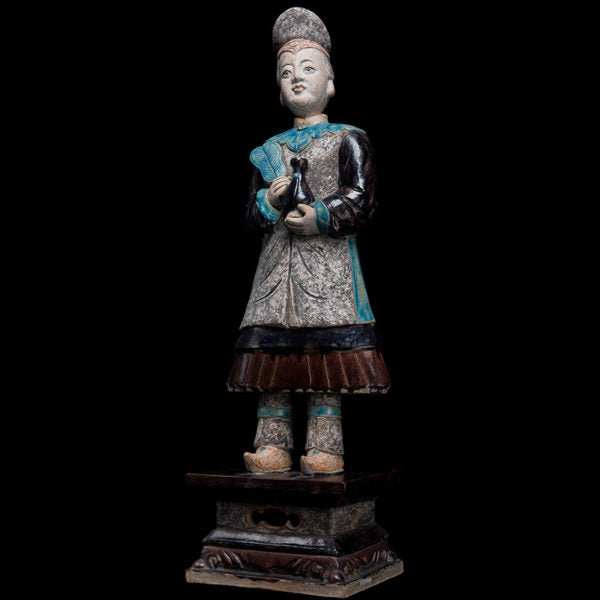 Monumental Ming Dinasty Court Attendant in Blue Robes – TL Tested
