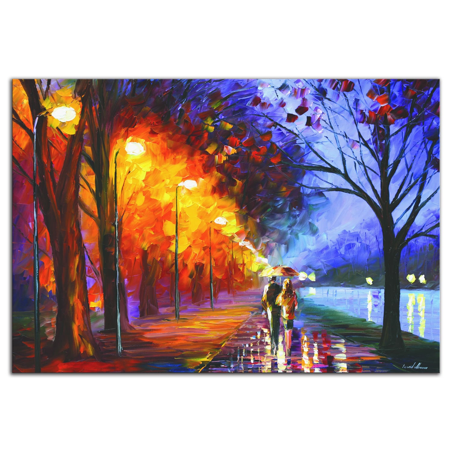 Alley By The Lake - Large Indoor/Outdoor Modern Metal Wall Art