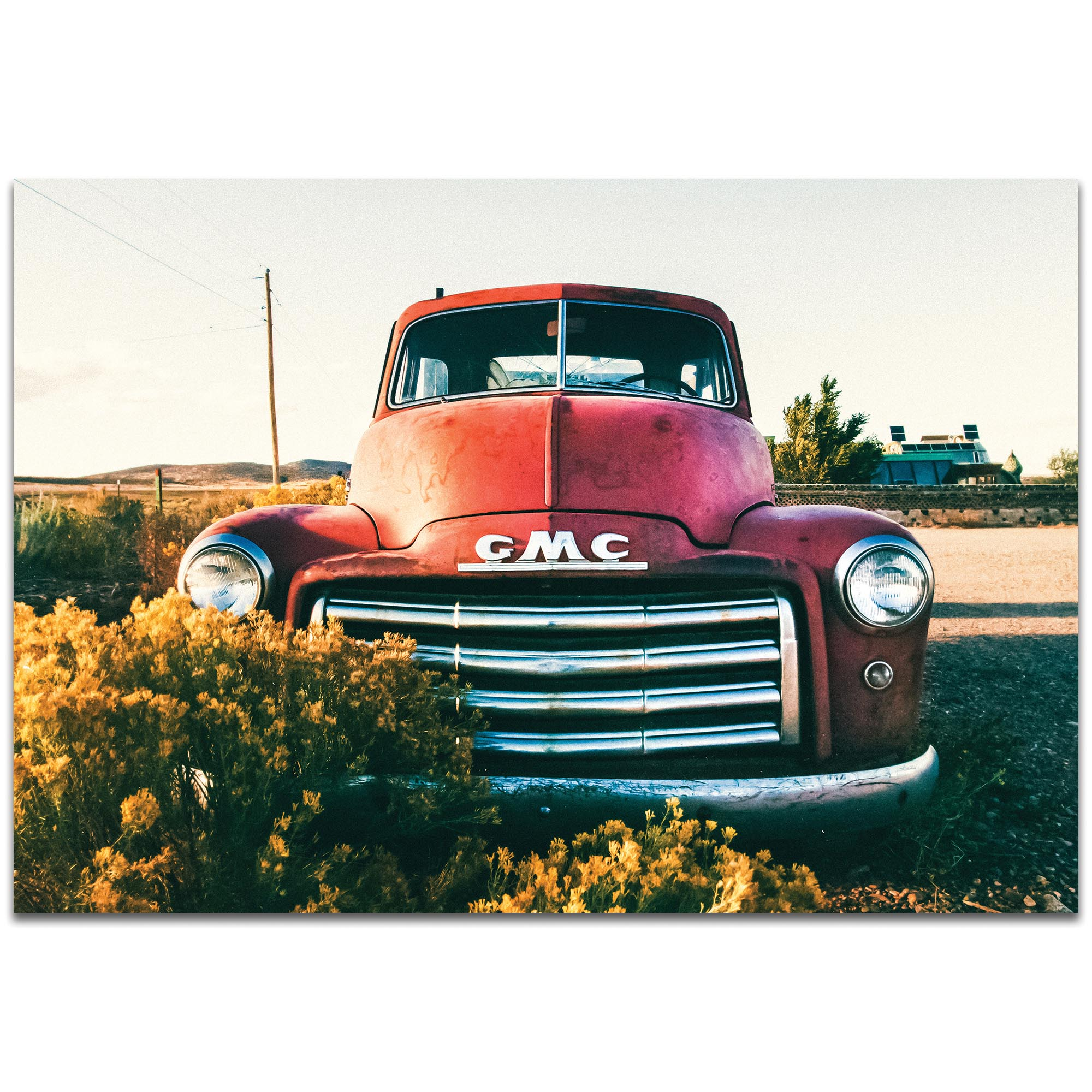 GMC Grill by Meirav Levy - Americana Wall Art on Metal or Plexiglass