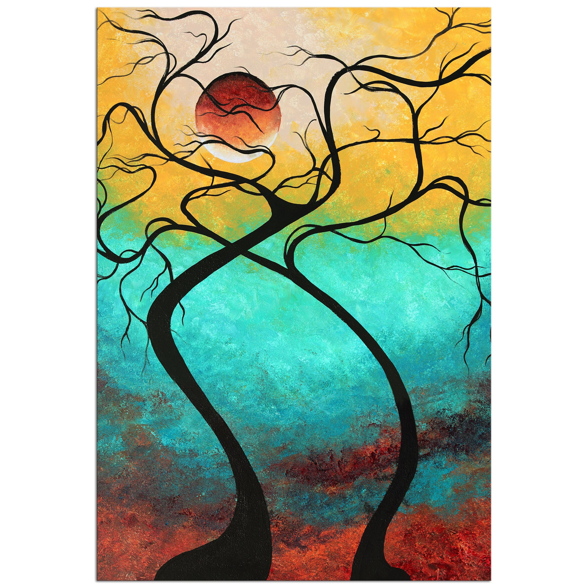 Twisting Love III - Large Indoor/Outdoor Contemporary Art by Megan Duncanson
