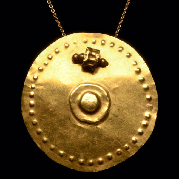 Pre-Columbian Narino Gold Circular Pendant – Colombia Ca. 800­1250 A.D. – Ex-Rothschild Collection