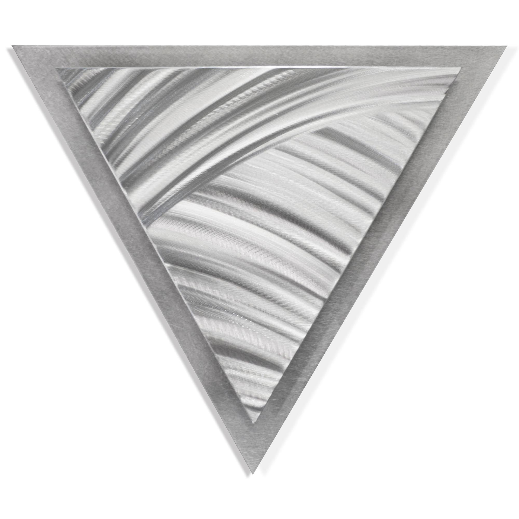 Folded Angle by Helena Martin - Modern Metal Art on Ground Metal