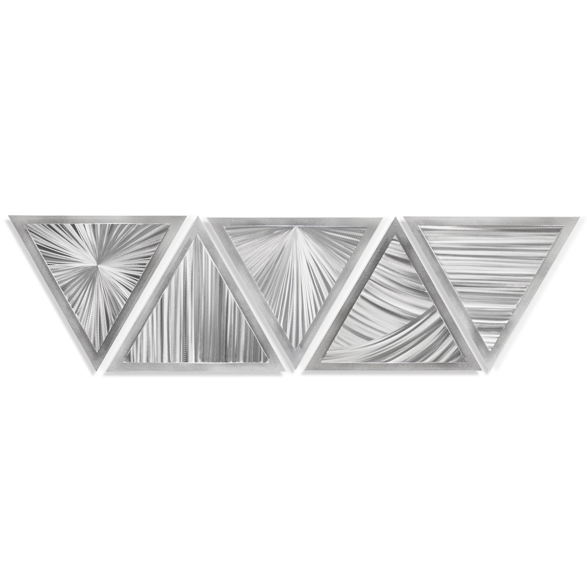 Linear Angles by Helena Martin - Modern Metal Art on Ground Metal