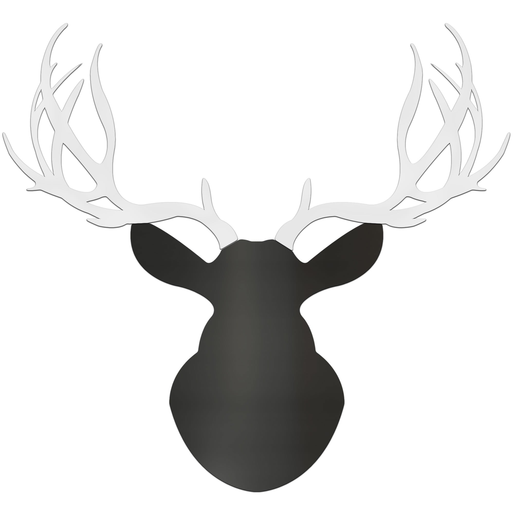 MODERN BUCK | 36x36 in. Black & White Deer Cut-Out