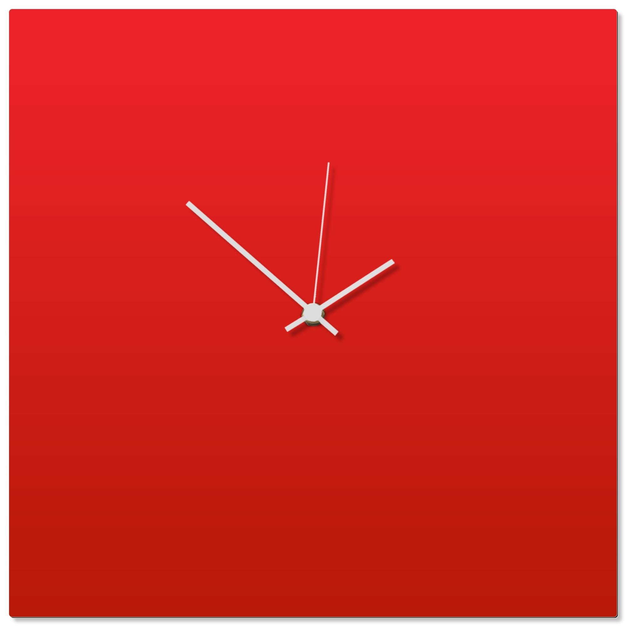 Redout White Square Clock by Adam Schwoeppe - Contemporary Clock on Aluminum Polymetal