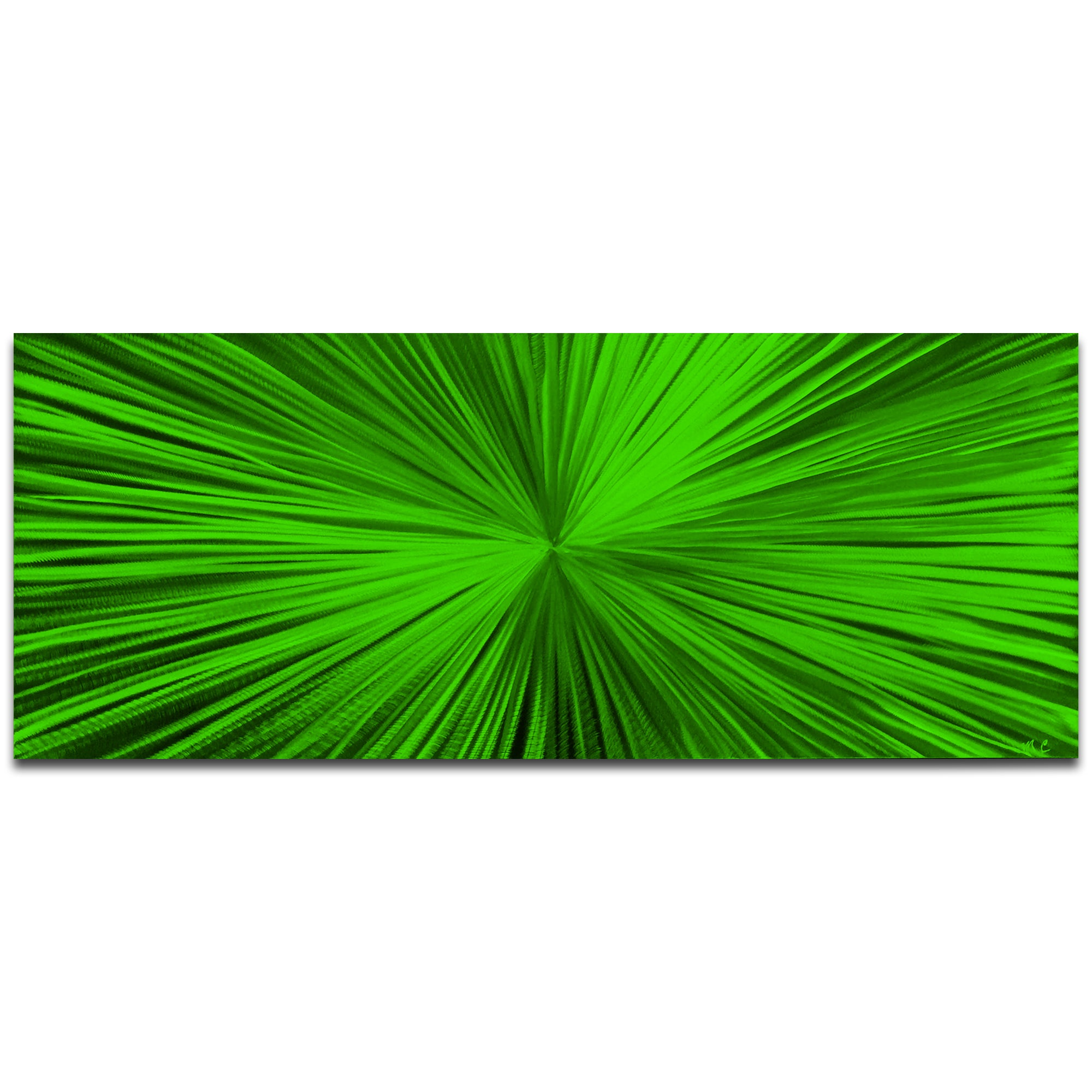 Starburst Green by Helena Martin - Original Abstract Art on Ground and Painted Metal