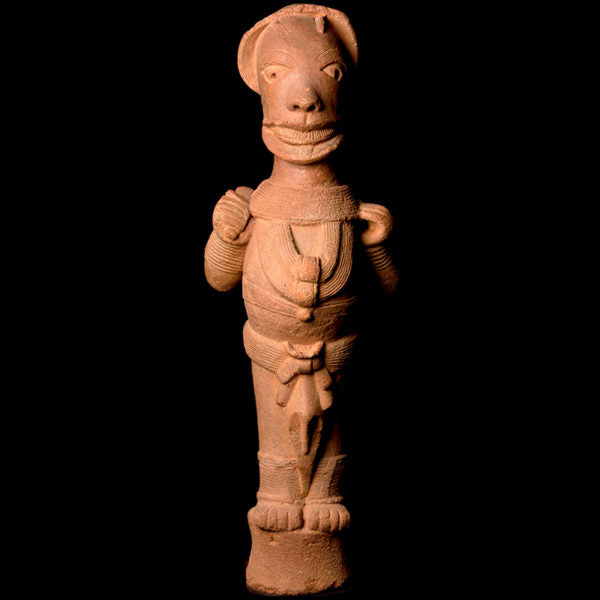 Important Nok Terracotta Standing Dignitary Figure in Royal Pose. TL Test. I-II Century AD. (Price On Request)