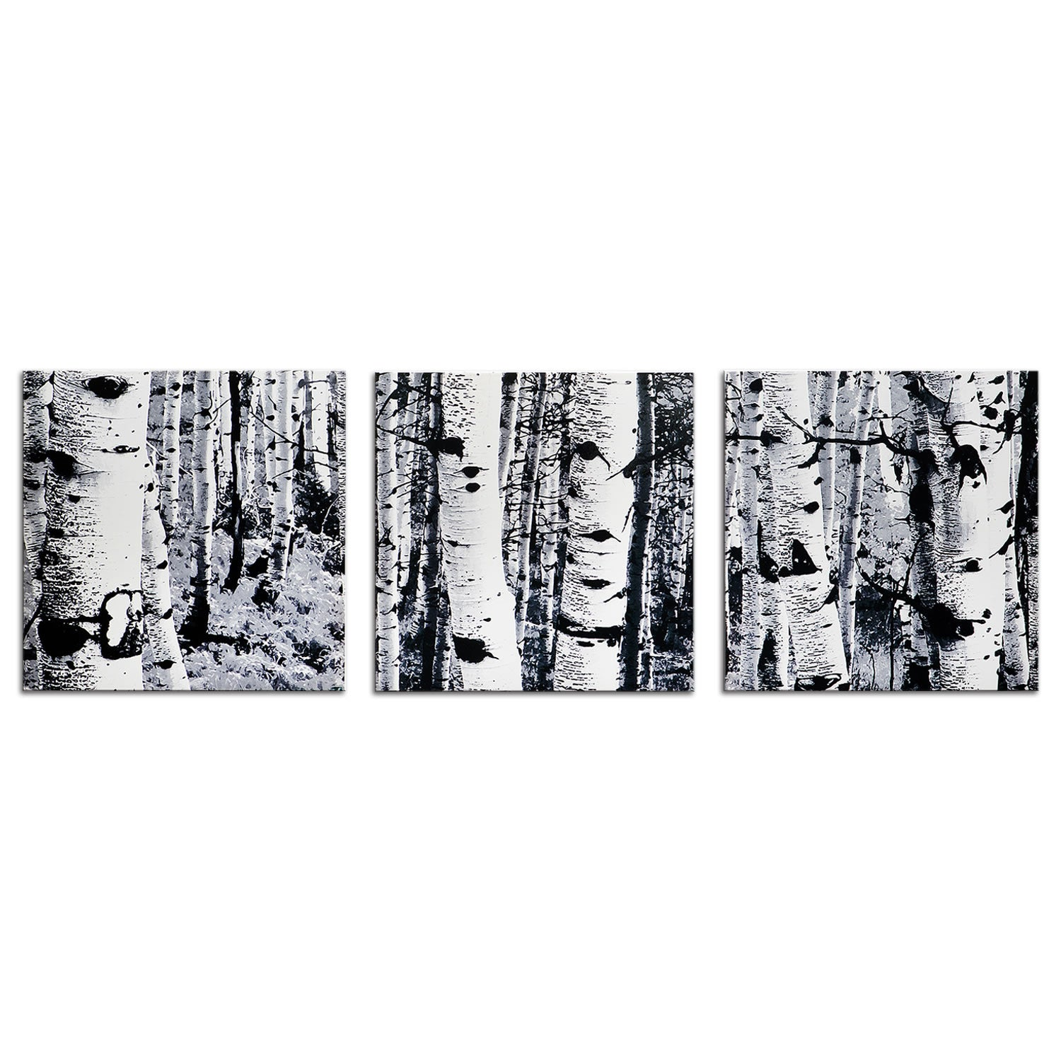 Aspen Triptych - Multi-Panel Indoor/Outdoor Modern Metal Wall Art