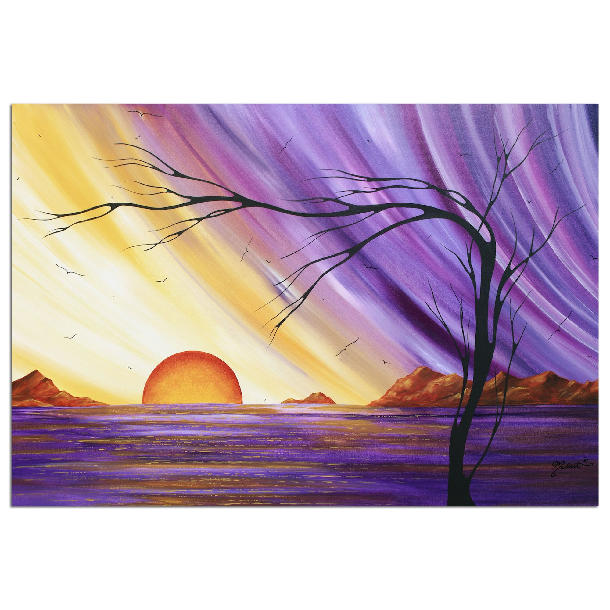 Royal Sunset - Large Indoor/Outdoor Contemporary Art by Megan Duncanson