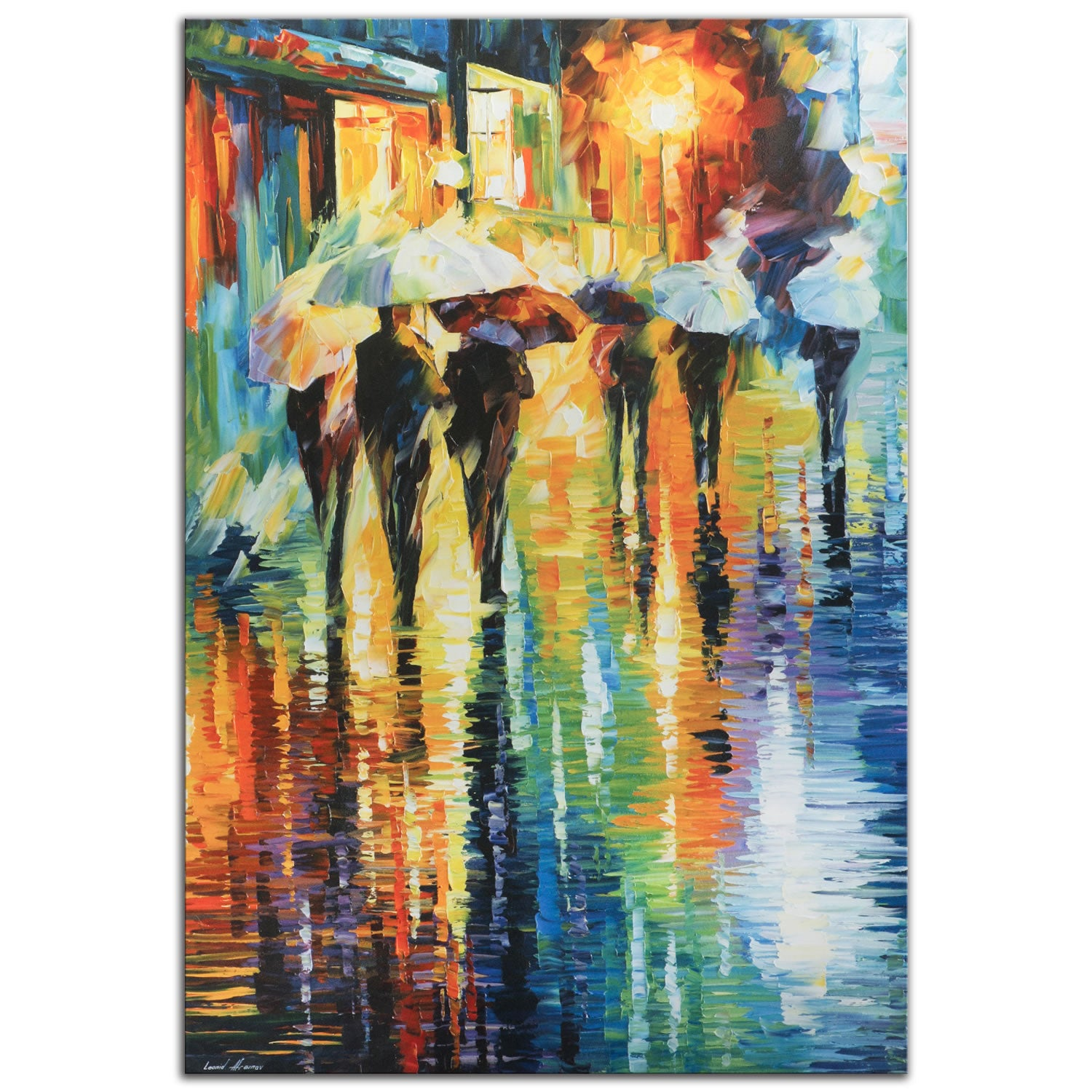 Rainy-Etude - Large Indoor/Outdoor Modern Metal Wall Art