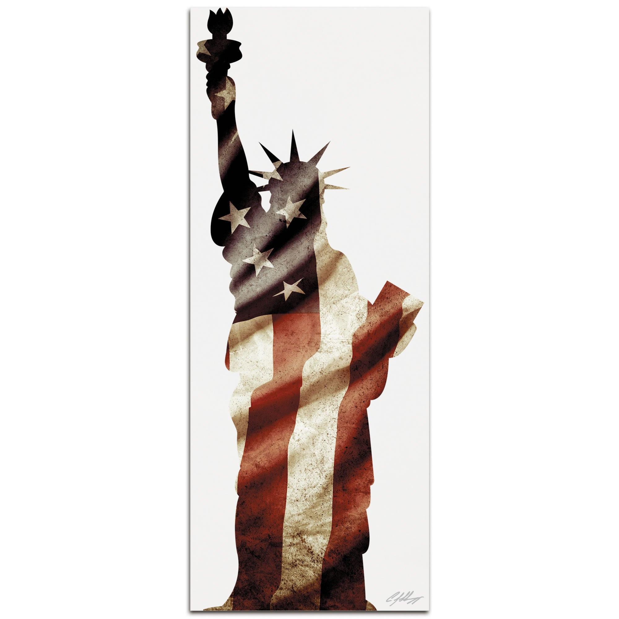LADY LIBERTY | 48x19 in. Metal Patriotic Print
