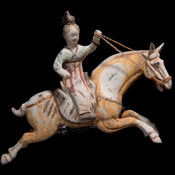 Tang Polo Player on Jumping Horse
