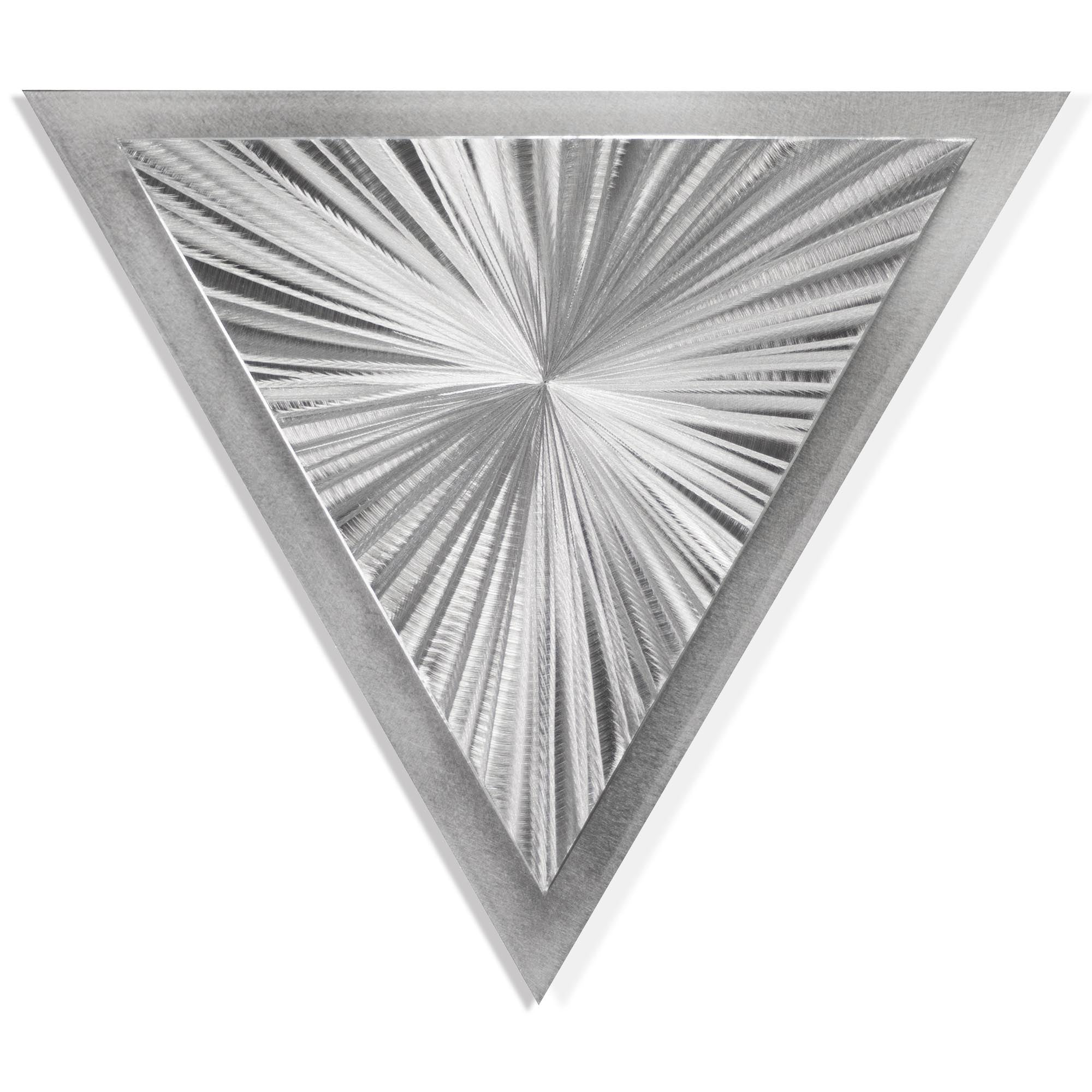 Starburst Angle by Helena Martin - Modern Metal Art on Ground Metal