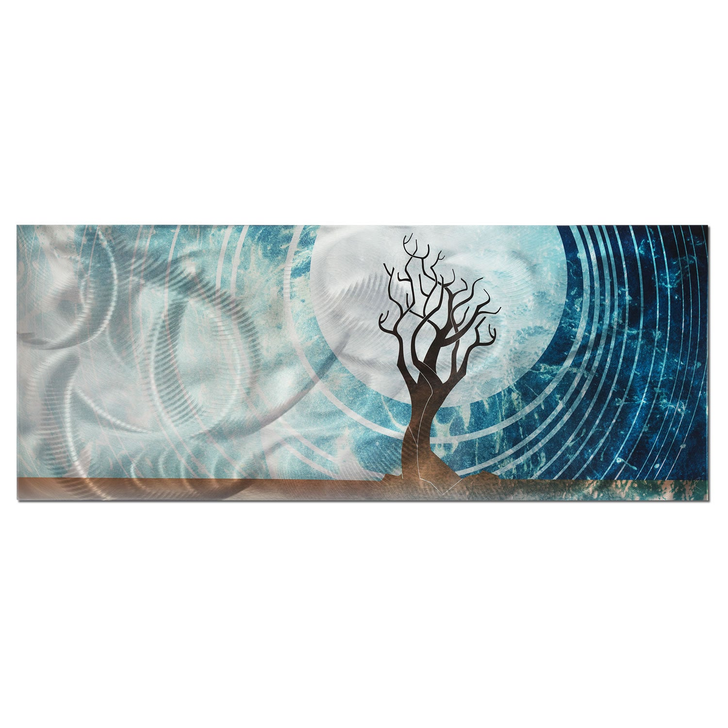 Twilight - Large Indoor/Outdoor Modern Metal Wall Art