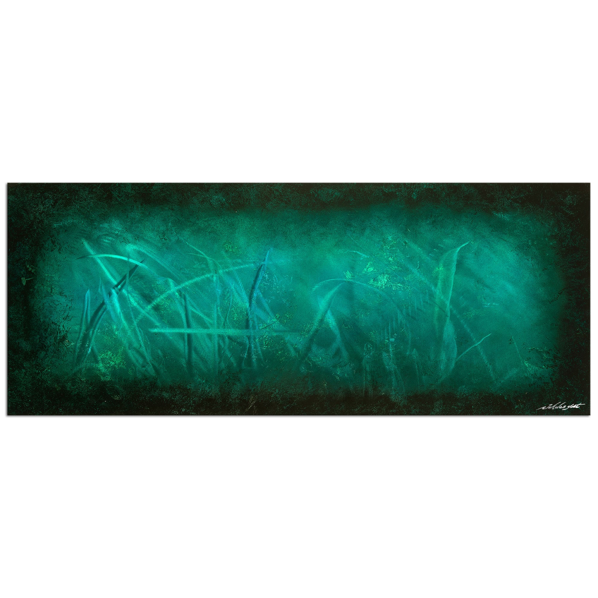 Ocean Mist - Large Indoor/Outdoor Modern Metal Wall Art