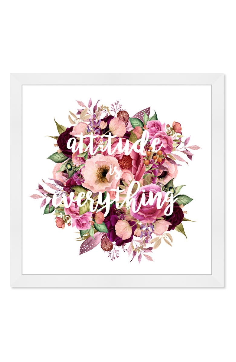 Attitude is Everything Framed Wall Art