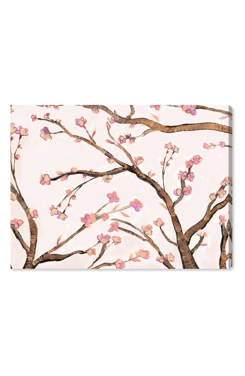 Pink Almond Blossom Canvas Wall Art