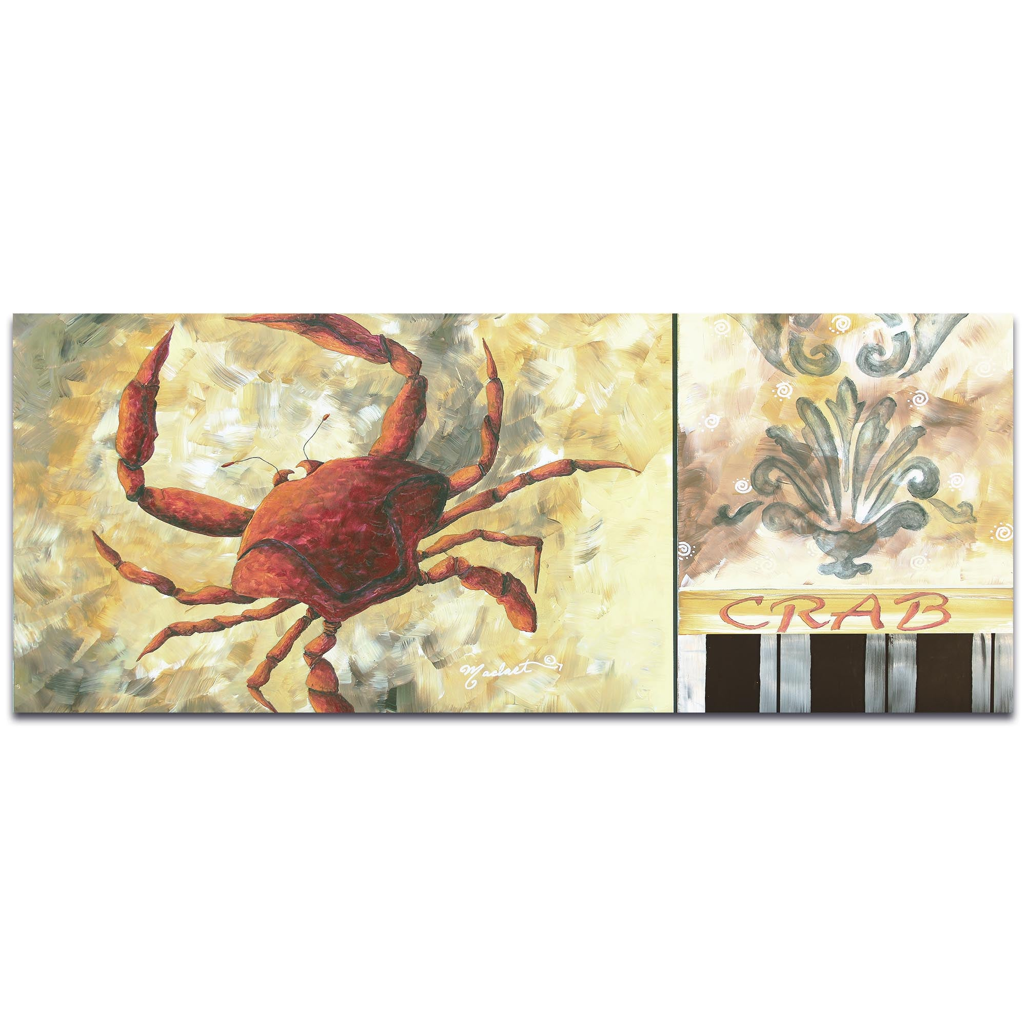 Crab by Megan Duncanson - Coastal Decor on Metal or Acrylic