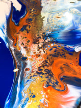 Load image into Gallery viewer, Details of fluid art by Alessia Camoirano Bruges using chromology and colour psychology to evoke feelings of forgiveness and mental health