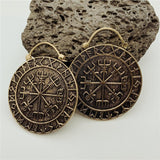 Vegvísir Runes Earrings (Small)