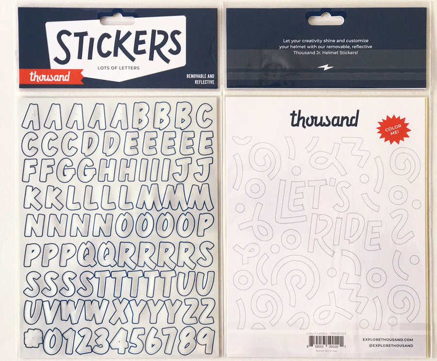 Pack d'autocollants réfléchissants amovibles Enfant Thousand Jr. Lots of Letters