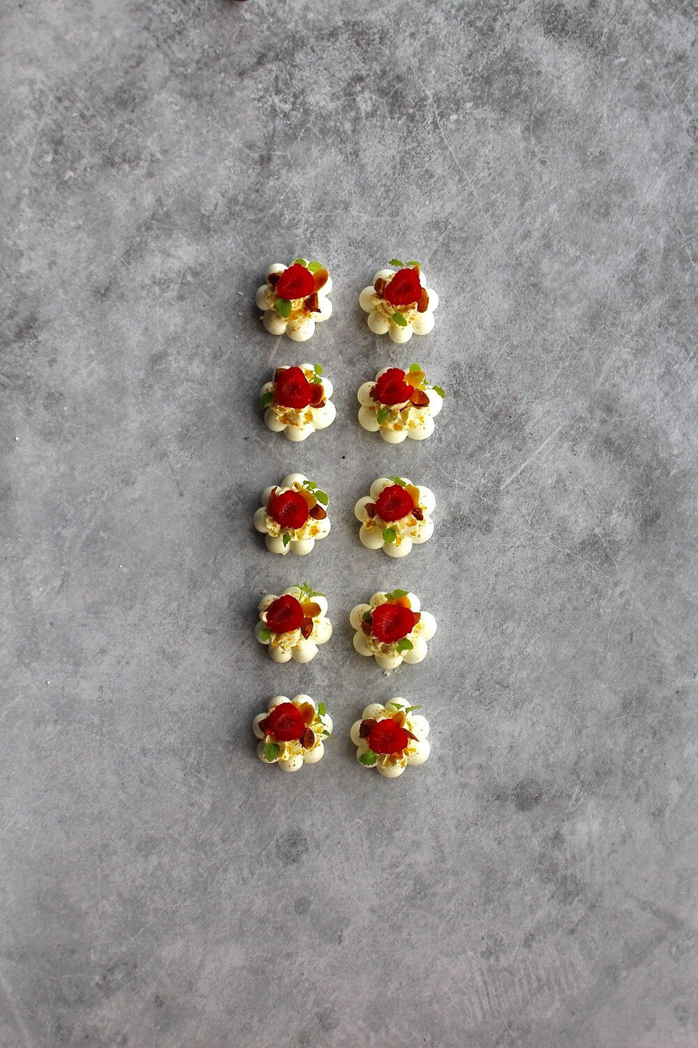Vanilla, Almond and Raspberry Canapé