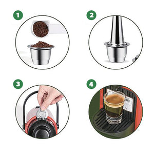 CÁPSULA REUTILIZABLE GREEN COFFEE™ NESPRESSO®/DOLCE GUSTO® 100% ACERO INOXIDABLE
