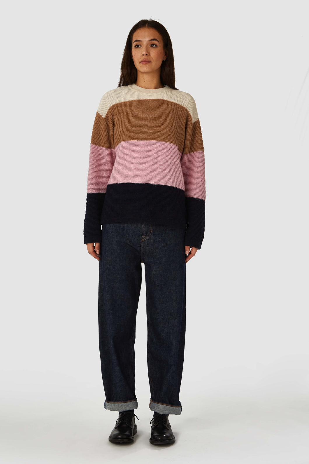 MAY PULLOVER Bold Stripe Pink