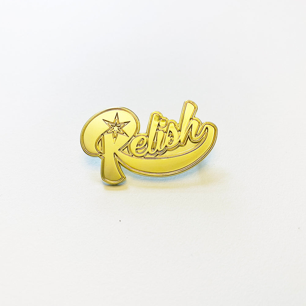 Relish Script - Hat pin