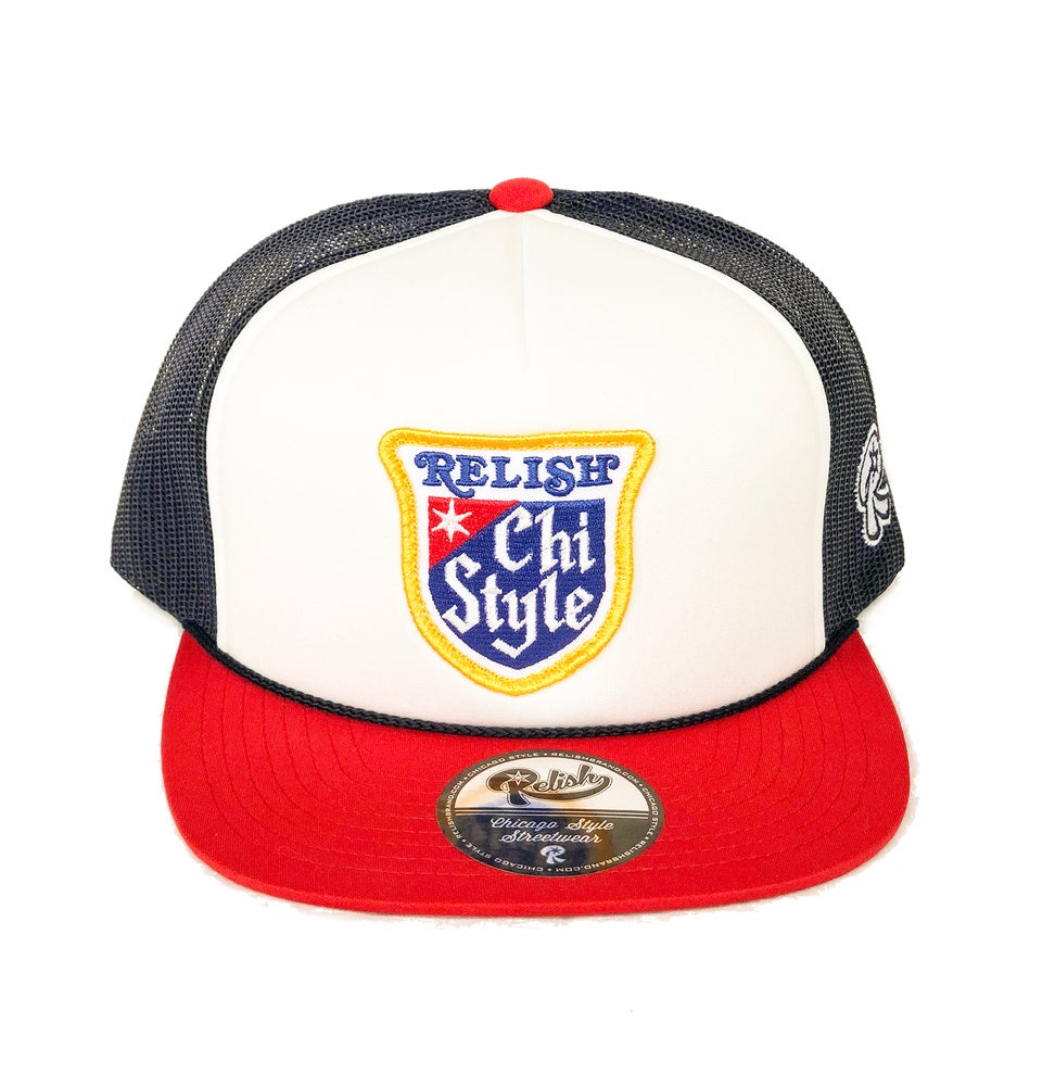 Chi Style - Snapback - Red, White & Brew