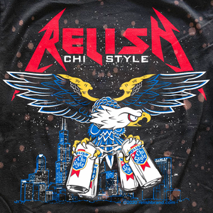 Load image into Gallery viewer, Tall Cans and Talons - Chicago Style metal shirt 2020 - Bleached