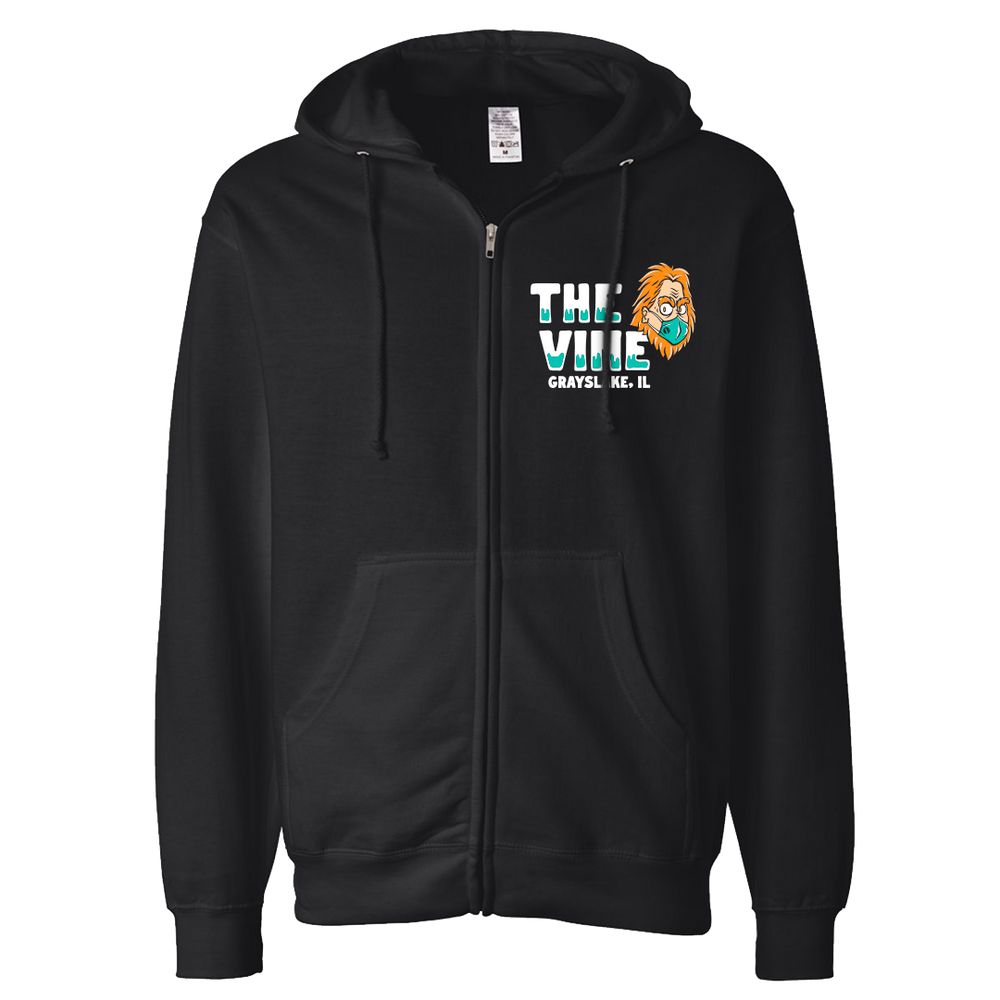 Load image into Gallery viewer, Social Distance Champion Zip-up Hoodie - Collab with The Vine martini & Wine bar